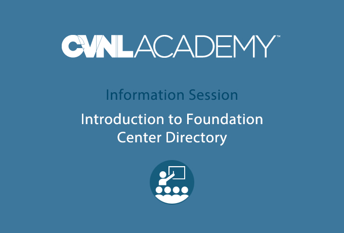 Foundation Center Training, Foundation Directory Orientation @ CVNL | San Rafael | California | United States