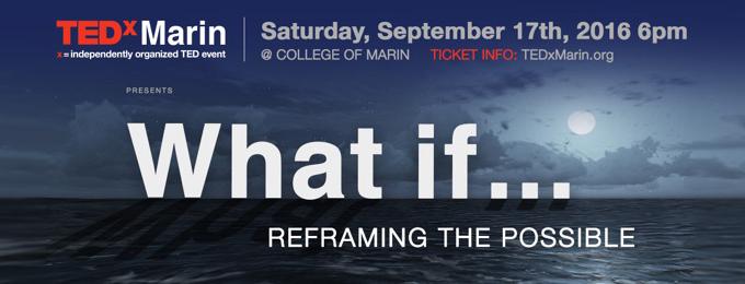 TEDxMarin, September 17 At College Of Marin, CVNL Sponsorship, Ticket Discount