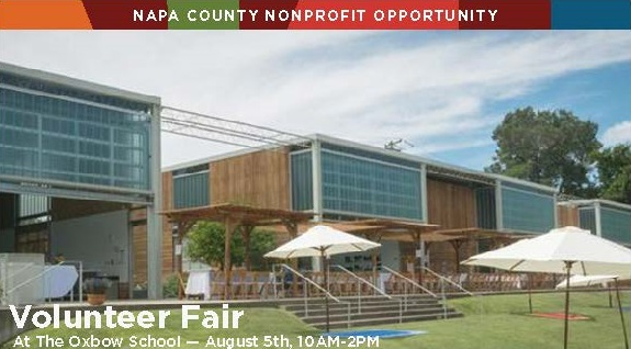 "Press Release: Collaborative ""Napa County Volunteer Fair"" To Be Held On August 5th"