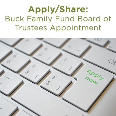 buck family fund board of trustees appointment