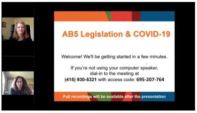 Webinar: AB-5 Legislation Updates