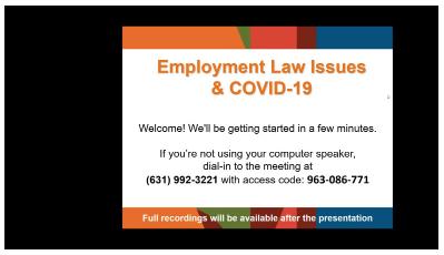 Webinar: Employment Laws & COVID-19